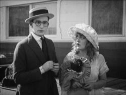 Harold Lloyd and Mildred Davis in Number, Please.