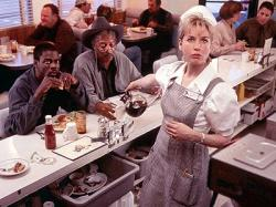 Chris Rock, Morgan Freeman and Renee Zellweger in Nurse Betty.