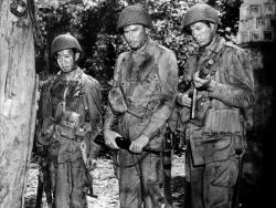 Frank Tang, Errol Flynn, and William Prince in Objective, Burma!.