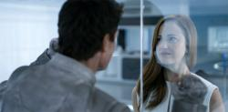 Tom Cruise and Andrea Riseborough in Oblivion.