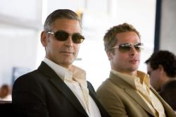 George Clooney and Brad Pitt in Ocean's Thirteen.