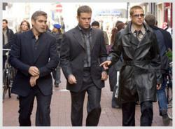 Clooney, Damon and Pitt in Ocean's Thirteen.