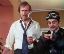 Graham Chapman and David Jason in The Odd Job.