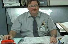 Stephen Root as Milton in Office Space.