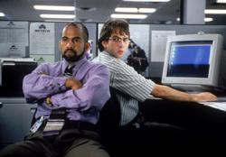 Ajay Naidu and David Herman in Office Space.