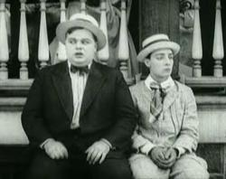 Roscoe (Fatty) Arbuckle and Buster Keaton in Oh Doctor!