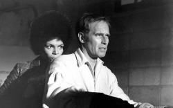 Rosalind Cash and Charlton Heston in The Omega Man