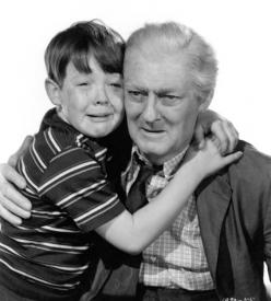 Bobs Watson and Lionel Barrymore in On Borrowed Time.