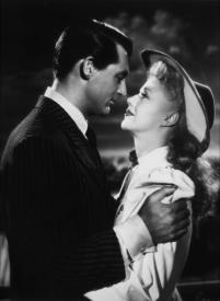 Cary Grant and Ginger Rogers in Once Upon a Honeymoon.