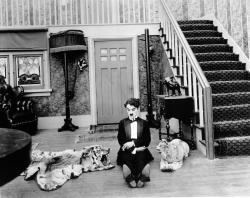 A drunk Charles Chaplin