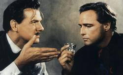 Karl Malden and Marlon Brando in One Eyed Jacks.