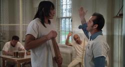 Will Sampson and Jack Nicholson in One Flew Over the Cuckoo's Nest.