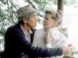 Henry Fonda and Katharine Hepburn in On Golden Pond.