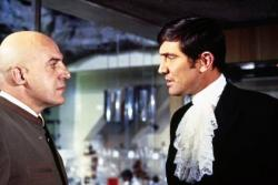 Telly Savalis and George Lazenby in On Her Majesty's Secret Service.