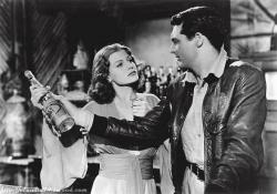 Rita Hayworth and Cary Grant in Only Angels have Wings.