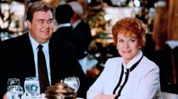 John Candy and Maureen O'Hara in Only the Lonely.
