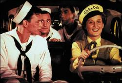 Frank Sinatra and Betty Garrett in On the Town.