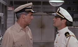 Cary Grant and Tony Curtis in Operation Petticoat.