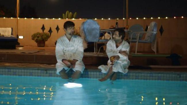 Adam Scott and Jason Schwartzman in The Overnight.