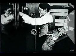 Harold Lloyd as a tailor in Over the Fence.