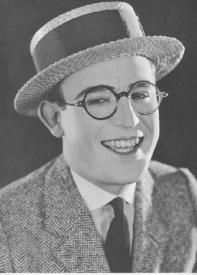 Harold Lloyd in his famous glasses.