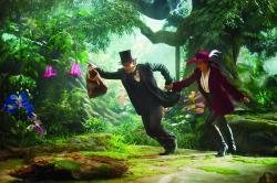 James Franco and Mila Kunis in Oz the Great and Powerful.