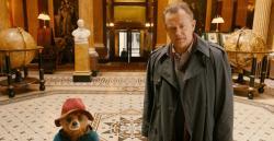 Paddington and Mr. Brown, played by Hugh Bonneville.