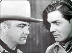 William Boyd and Clark Gable in The Painted Desert.