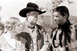 Helen Twelvetrees, J. Farrell MacDonald and Clark Gable in The Painted Desert.