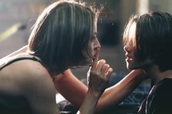 Jodie Foster and Kristen Stewart in Panic Room.