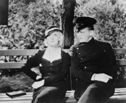 Bette Davis meets Douglas Fairbanks jr. in Central Park in Parachute Jumper.