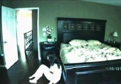 Katie Featherston as Katie in Paranormal Activity.