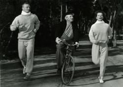 Aldo Ray, Spencer Tracy and Katharine Hepburn in Pat and Mike.