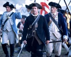 Mel Gibson and Heath Ledger in The Patriot.