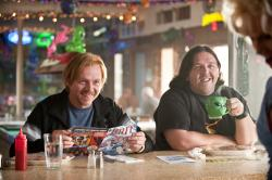Simon Pegg and Nick Frost in Paul.