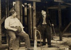 Mack Swain and Charlie Chaplin in Pay Day
