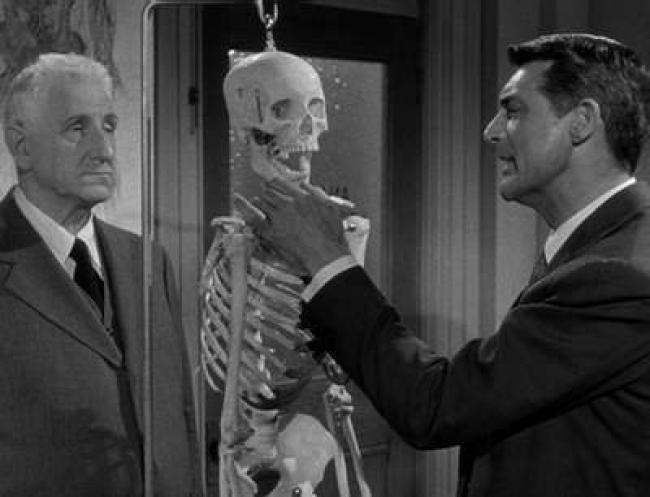 Finlay Currie and Cary Grant in People Will Talk.