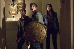 Brandon T. Jackson, Logan Lerman  and Alexandra Daddario in Percy Jackson &  the Olympians: The Lightning Thief.