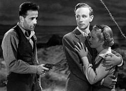 Humphrey Bogart, Leslie Howard and Bette Davis in The Petrified Forest