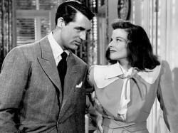 Cary Grant and Katharine Hepburn in The Philadelphia Story.