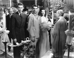 Jimmy Stewart, Cary Grant and Katharine Hepburn in The Philadelphia Story.