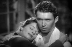 Katharine Hepburn and Jimmy Stewart in The Philadelphia Story.