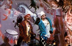 Gene Kelly and Judy Garland being a clown in The Pirate