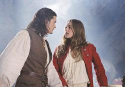 Orlando Bloom and Keira Knightley in Pirates of the Caribbean: The Curse of the Black Pearl.