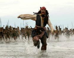 Johnny Depp in Pirates of the Caribbean: Dead Man's Chest.