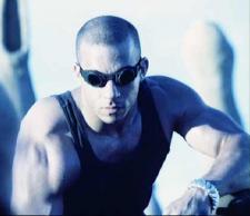 Vin Diesel as Riddick in Pitch Black.