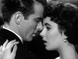 Montgomery Clift and Elizabeth Taylor in A Place in the Sun.