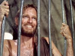 Charlton Heston in Planet of the Apes.