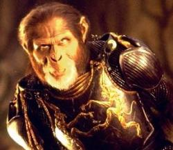 Tim Roth in Planet of the Apes.