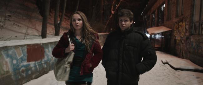 Yana Novikova and Hryhoriy Fesenko in The Tribe